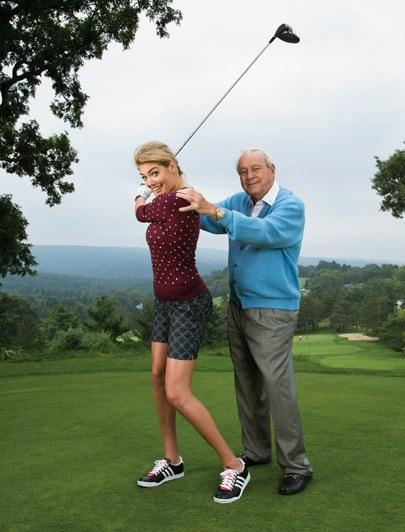 Palmer has some pointers for supermodel Kate Upton in Golf Digest's December 2013 issue.