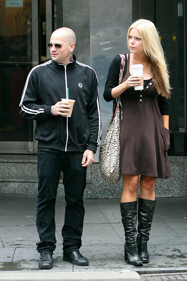 """Benji Madden split with his fiancee, Australian pop singer/model/actress Sophie Monk, in February. Shortly after, the Good Charlotte guitarist was spotted hooking up with Paris Hilton. Beetham/Hammond/<a href=""""http://www.splashnewsonline.com/"""" target=""""new"""">Splash News</a> - April 28, 2007"""