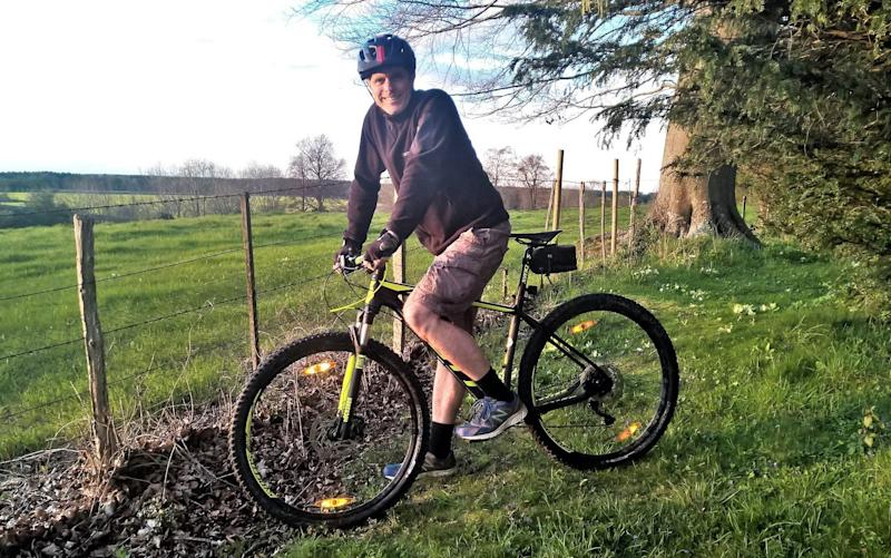 Mountain biker James Foxall confronts the thorny issue of punctures
