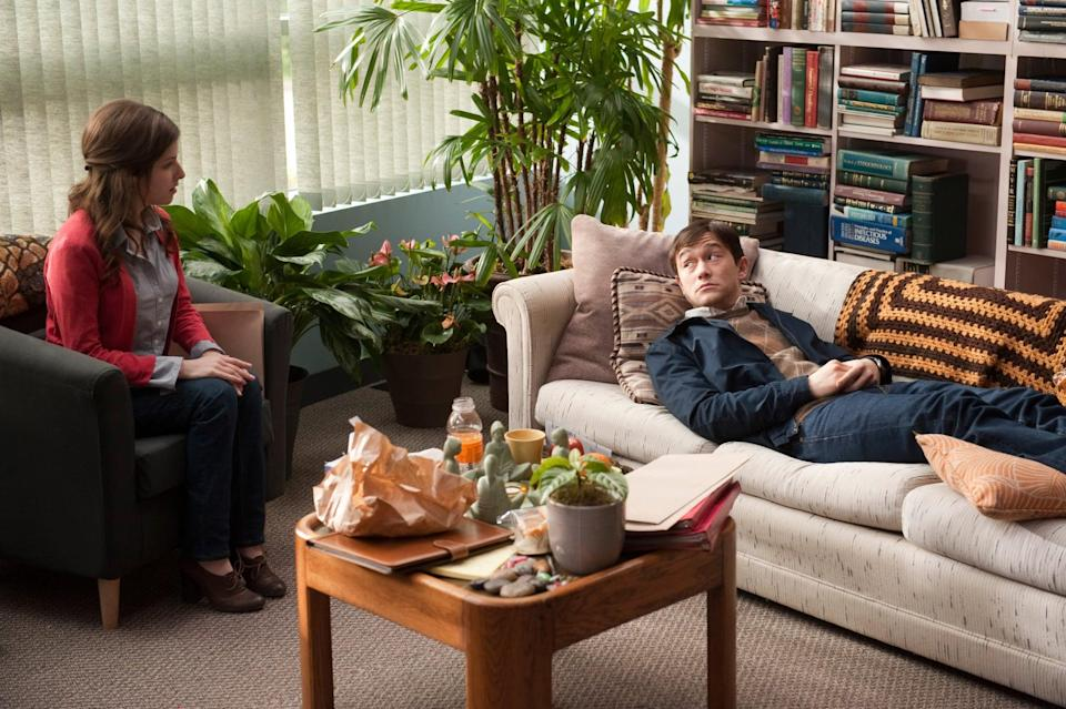 """<p>Life takes a turn for 27-year-old Adam (Joseph Gordon-Levitt), who learns he has tumors on his spine. Given a 50/50 chance of survival, he navigates life after his diagnosis with the help of his friend Kyle (<a class=""""link rapid-noclick-resp"""" href=""""https://www.popsugar.com/Seth-Rogen"""" rel=""""nofollow noopener"""" target=""""_blank"""" data-ylk=""""slk:Seth Rogen"""">Seth Rogen</a>) and therapist (<a class=""""link rapid-noclick-resp"""" href=""""https://www.popsugar.com/Anna-Kendrick"""" rel=""""nofollow noopener"""" target=""""_blank"""" data-ylk=""""slk:Anna Kendrick"""">Anna Kendrick</a>). </p> <p><a href=""""http://www.hulu.com/movie/5050-8bbdc2a6-c308-4319-afb8-0b010f76db54"""" class=""""link rapid-noclick-resp"""" rel=""""nofollow noopener"""" target=""""_blank"""" data-ylk=""""slk:Watch 50/50 on Hulu."""">Watch<strong> 50/50</strong> on Hulu.</a></p>"""