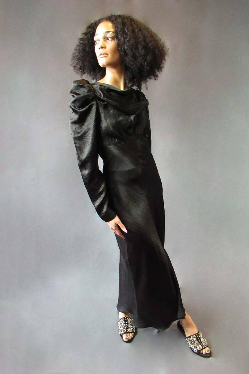 <p>There are so many ways to wear this cool <span>Hope For Flowers by Tracy Reese Black Cowl Dress</span> ($325). We having a feeling this will become a wardrobe staple.</p>