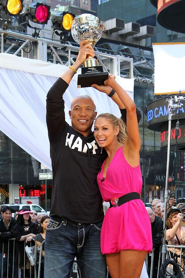 <p>NFL MVP Hines Ward and partner Kym touchdown-danced their way to the season 12 title. The former Pittsburgh Steeler became the first football player to win since Emmitt in season three.</p>