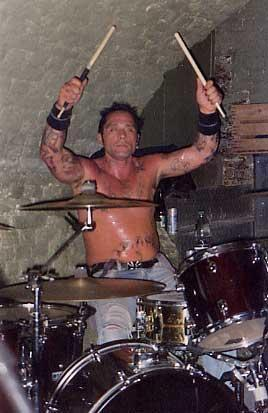 Joey Image playing drums