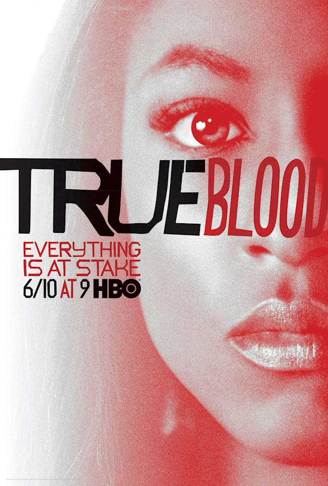"""True Blood"" Season 5 poster featuring Tara Thornton (Rutina Wesley)"