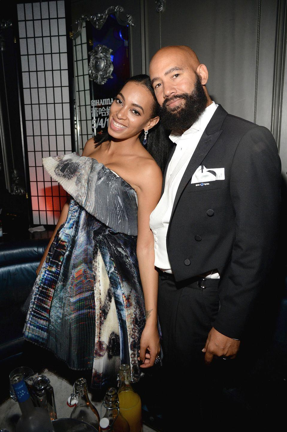 "<p>The Knowles sisters have surely mastered the art of surprise. The youngest Knowles began dating her now-husband Alan Ferguson in 2008 before the pair tied the knot it a private ceremony in 2014. The stylish couple's all-ivory wedding photos went viral. However, she <a href=""https://www.elle.com/uk/life-and-culture/a29681582/solange-husband-alan-ferguson-separate/"" rel=""nofollow noopener"" target=""_blank"" data-ylk=""slk:announced their divorce"" class=""link rapid-noclick-resp"">announced their divorce</a> in November 2019.</p>"