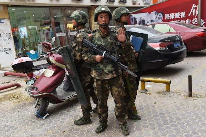 Foreign reporters are routinely stopped from accessing Xinjiang and monitored when they are there (AFP Photo/GREG BAKER)