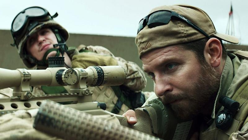 Bradley Cooper staring as Kyle in the blockbuster movie 'American Sniper'. Source: AAP