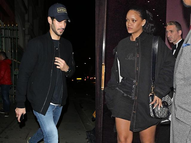 """<p>The singer seems to have found love in a hopeless place. Rihanna was spotted kissing the Saudi billionaire in June and the two are still going strong, with the """"Umbrella"""" singer even wearing some <a href=""""https://www.yahoo.com/entertainment/rihanna-billionaire-boyfriend-hassan-jameel-200608098.html"""" data-ylk=""""slk:mysterious bling;outcm:mb_qualified_link;_E:mb_qualified_link"""" class=""""link rapid-noclick-resp"""">mysterious bling</a> on her ring finger. (Photo: The Image Direct) </p>"""