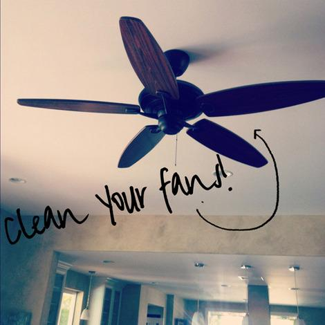Clean and adjust fans