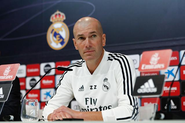 "Zinedine Zidane's first match back in charge of <a class=""link rapid-noclick-resp"" href=""/soccer/teams/real-madrid/"" data-ylk=""slk:Real Madrid"">Real Madrid</a> doesn't seem overly challenging. (Getty)"