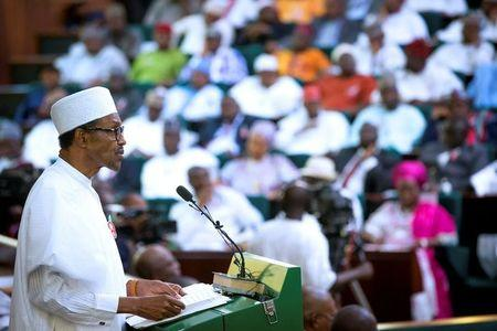 Nigeria's President Muhammadu Buhari presents the 2017 National Budget to the National Assembly in Abuja