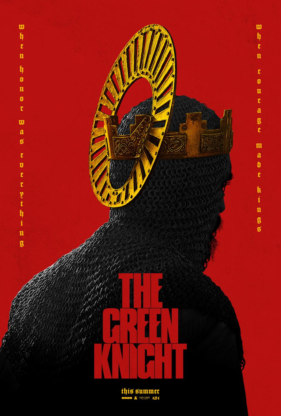 The US poster for A24's The Green Knight. (A24)