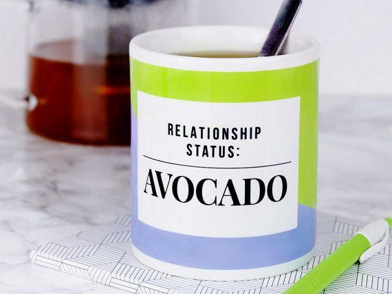 """Get it <a href=""""https://www.etsy.com/listing/474771313/relationship-status-avocado-mug-funny?ref=cyber_subcategory"""" target=""""_blank"""">here</a>."""