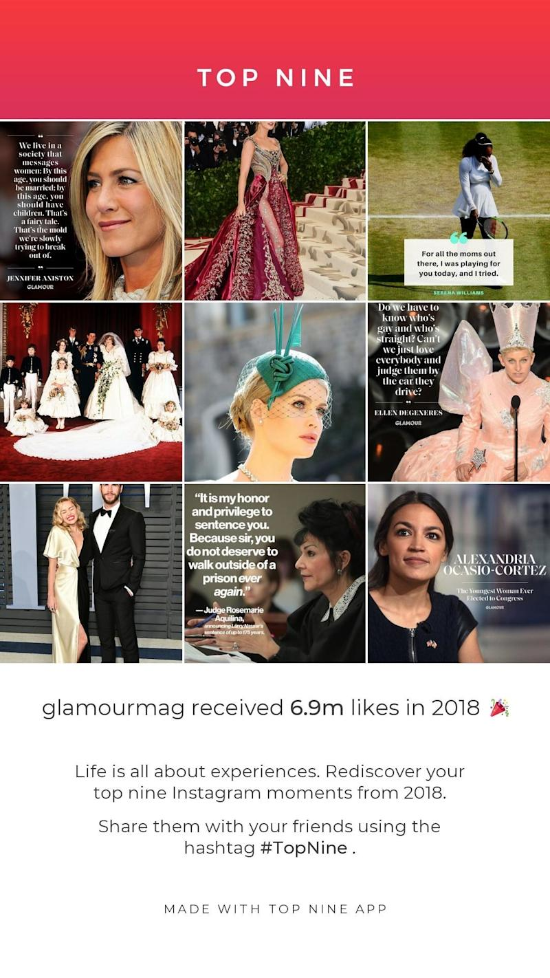 Glamour's Top Nine Instagram posts of 2019