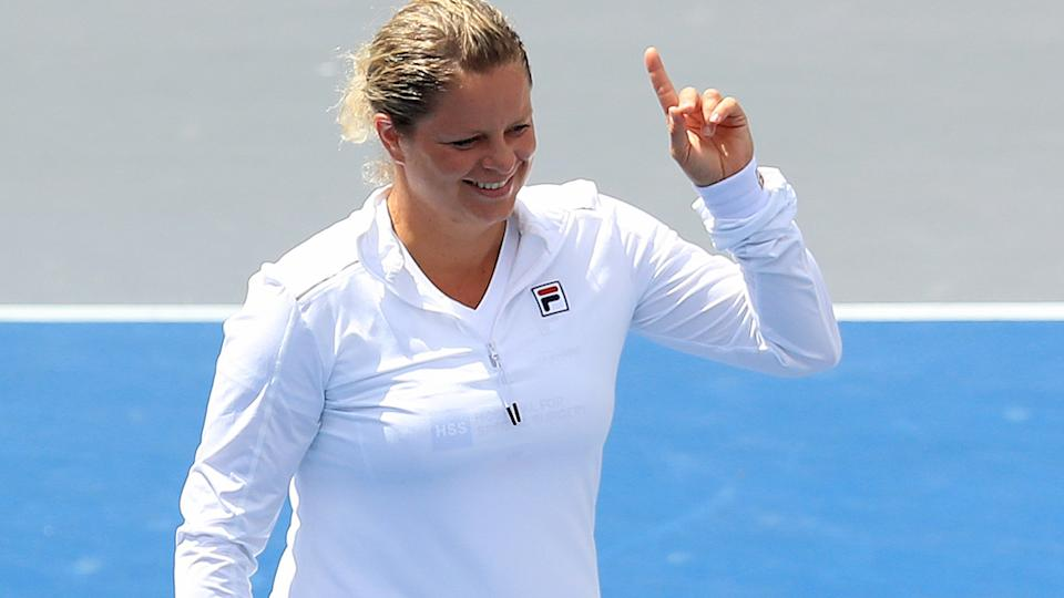 Kim Clijsters, pictured here at the World Team Tennis finals.