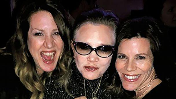 PHOTO: Joely Fisher, left, poses with her sisters Carrie Fisher, center, and Tricia Fisher, right. (Courtesy Joely Fisher)