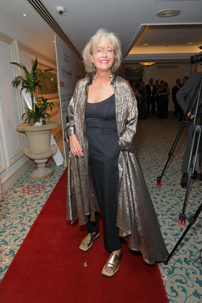 Emma Thompson works her style in September 2021. (Getty Images)