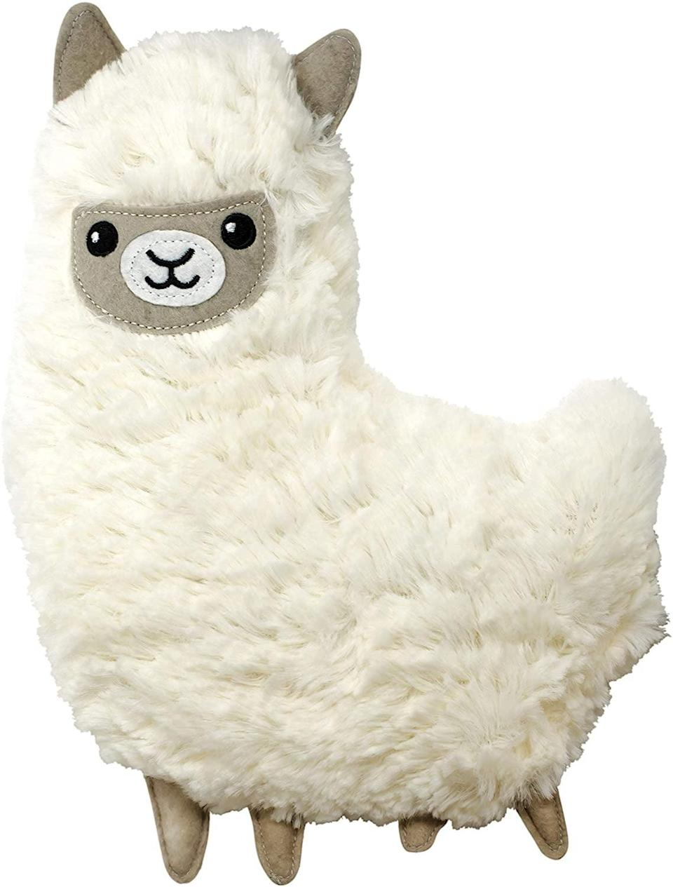 <p>They can simply heat up this <span>Huggable Llama Heating Pad &amp; Pillow</span> ($30) and cuddle with it.</p>