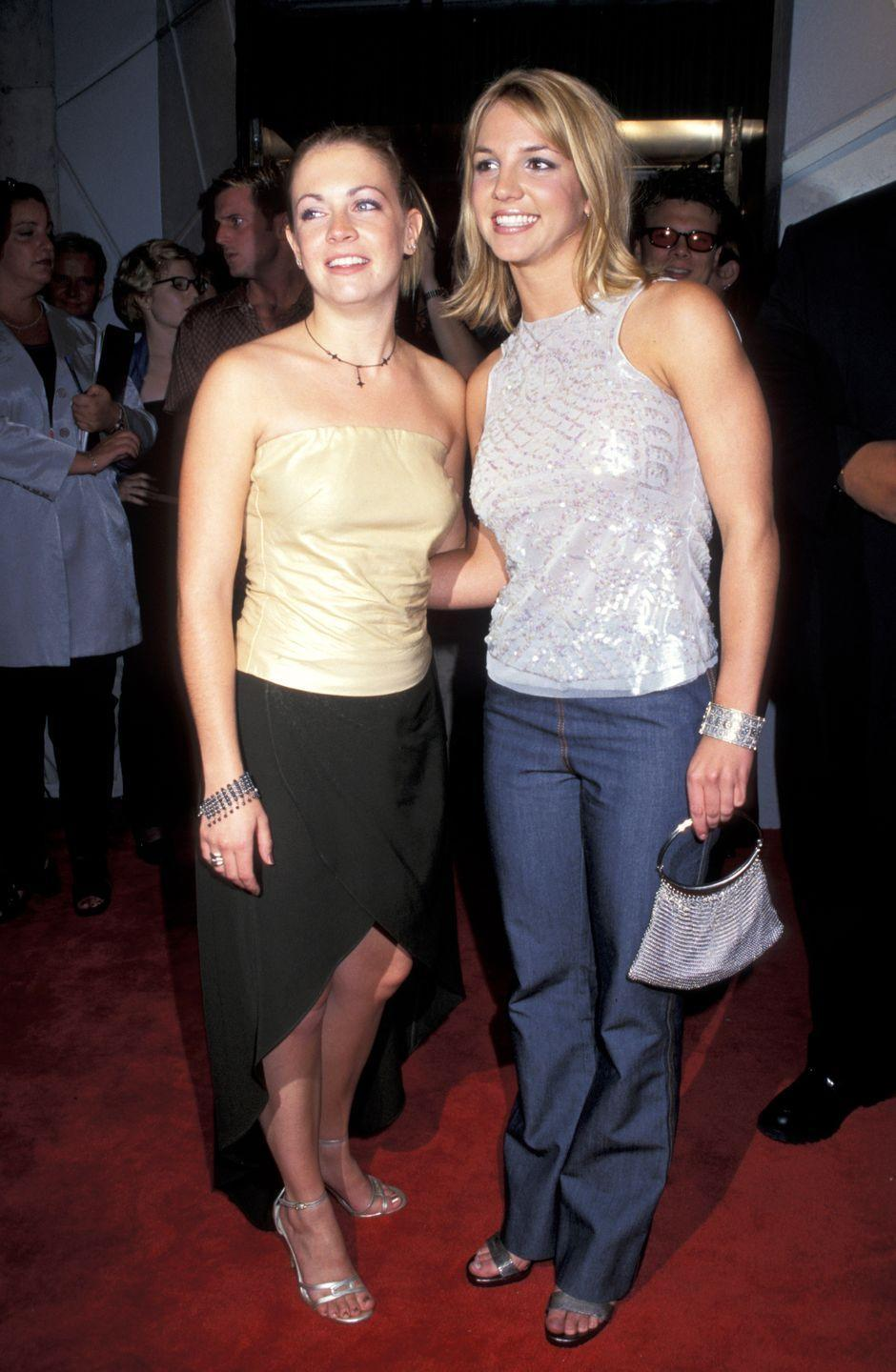 """<p>TBQH, it's like Britney and Melissa Joan Hart (remember, Brit and Melissa both starred in <a href=""""https://www.youtube.com/watch?v=Q4VK9_CfOLQ"""" rel=""""nofollow noopener"""" target=""""_blank"""" data-ylk=""""slk:the """"(You Drive Me) Crazy"""" music video"""" class=""""link rapid-noclick-resp"""">the """"(You Drive Me) Crazy"""" music video</a> alongside Adrian Grenier) had a competition to see who could look more '90s. They both win!</p>"""
