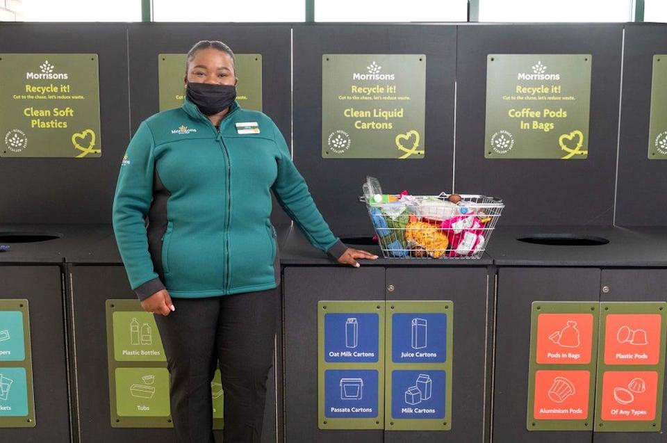 Morrisons is installing new recycle points in six stores in Edinburgh. (Morrisons / PA)