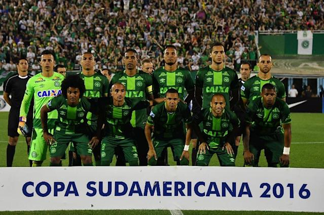 Brazil's Chapecoense Real players were on the plane and were to have played in the Copa Sudamericana finals on Wednesday against Atletico Nacional de Colombia (AFP Photo/Nelson Almeida)