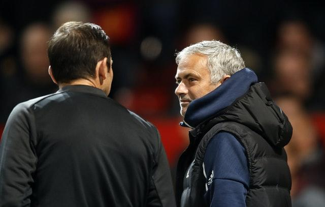 Frank Lampard, left, and Jose Mourinho will meet again on Tuesday