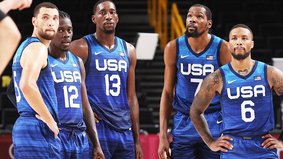 Team USA, pictured here after suffering their first loss at the Olympics since 2004.