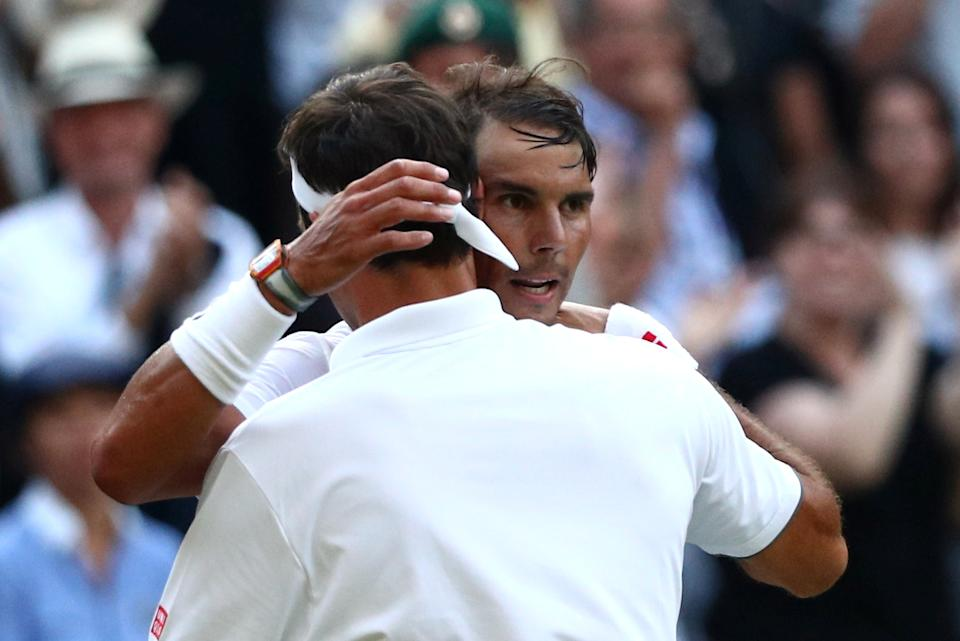 Rafael Nadal fended off four match points but eventually succumbed to Roger Federer's pressure. (Reuters)
