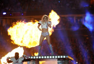 Singer Lady Gaga performs during the Pepsi Zero Sugar Super Bowl LI Halftime Show at NRG Stadium on February 5, 2017 in Houston, Texas. (Photo by Focus on Sport/Getty Images)