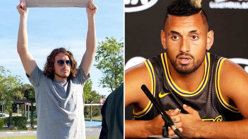 Tsitsipas shares Kyrgios' contact number on Instagram on latter's birthday
