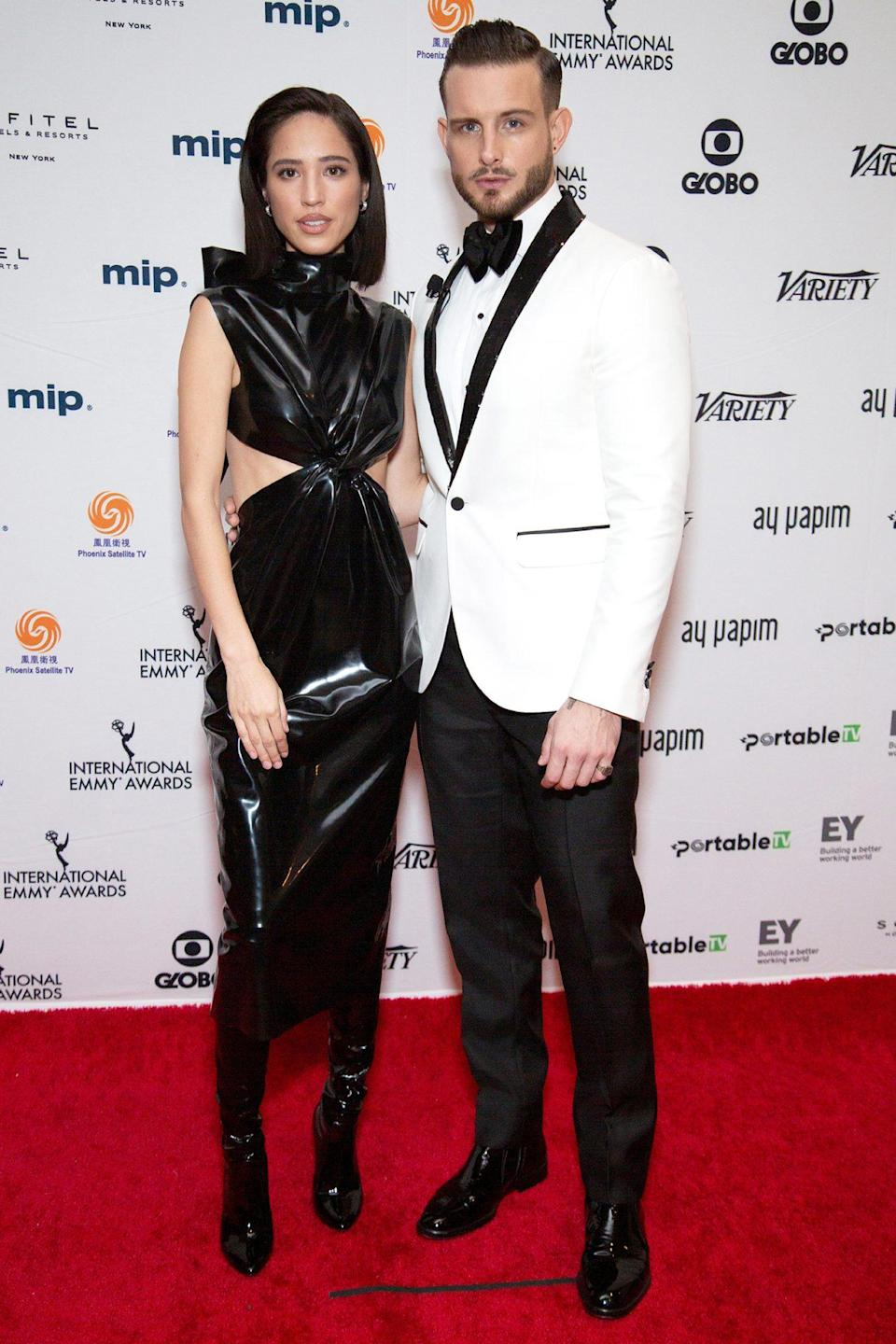 <p>Nico Tortorella and Kelsey Asbille host the 48th International Emmy Awards on Monday in N.Y.C.</p>