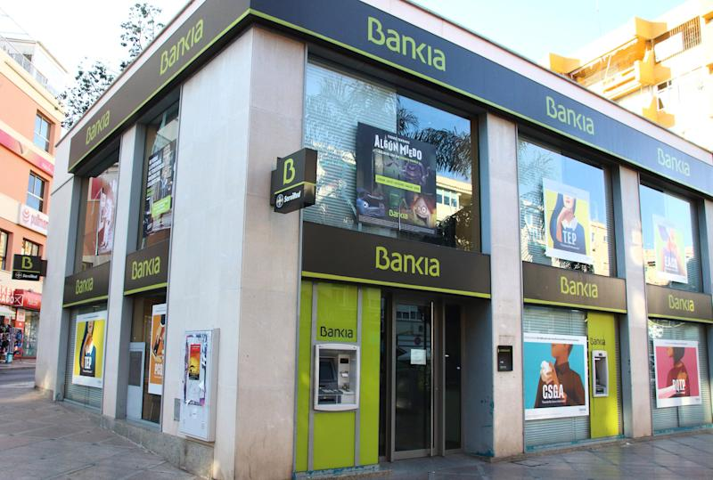 Una oficina en Bankia en la Costa del Sol, en Málaga. (Photo: SOPA Images via Getty Images)