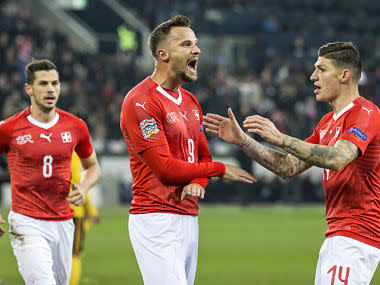 UEFA Nations League: Switzerland ride on Haris Seferovic's hat-trick to stun Belgium and qualify for finals