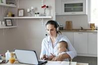"""<p>In the first few weeks of the pandemic, Lauren Kleinman and her husband were taking shifts caring for their 2-year-old and 6-month-old while trying to successfully run their full-time businesses. They both realized that if they continued on that path, they'd have to choose between caring for their children full-time or giving up the businesses.</p><p>They decided to bring a nanny back into their home and continue focusing on their businesses. """"Even with the incredible help we have that I am beyond grateful for, it's still a massive challenge,"""" Kleinman of <a href=""""https://www.thequalityedit.com/"""" rel=""""nofollow noopener"""" target=""""_blank"""" data-ylk=""""slk:The Quality Edit"""" class=""""link rapid-noclick-resp"""">The Quality Edit</a> tells Woman's Day. """"I try to develop consistent habits every day so our children know what to expect. Generally that means spending shared family time together in the morning, for breakfast and for lunch, but otherwise consistently working out of the office."""" </p><p>And although her oldest generally understands that mom can't play if she's in the office, he still comes in at least once or twice a day with a pile of toys. """"I try to just roll with the punches and if he starts playing with green goo on my desk while I'm pitching an important new client over Zoom, I just accept that everyone is going through this shared experience together and a lot more accepting of our individual home experiences,"""" she says.<br></p>"""