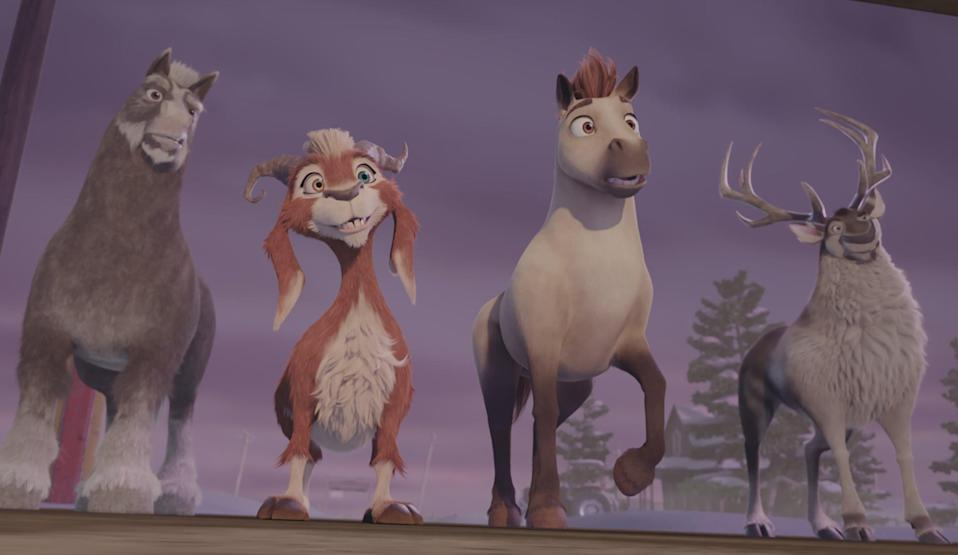 """<p><strong>Netflix description:</strong> """"When Blitzen suddenly retires, a miniature horse determined to join Santa's reindeer team faces fierce competition in the North Pole tryouts.""""</p> <p><strong>Ages it's appropriate for:</strong> 8 and up</p> <p><strong>Watch it here beginning Nov. 1:</strong> <a href=""""https://www.netflix.com/title/80215046"""" class=""""link rapid-noclick-resp"""" rel=""""nofollow noopener"""" target=""""_blank"""" data-ylk=""""slk:Elliot the Littlest Reindeer""""><strong>Elliot the Littlest Reindeer</strong></a></p>"""