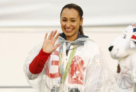 Britain Olympics - Team GB Homecoming Parade - Manchester - 17/10/16 Jessica Ennis-Hill of Britain of Britain on stage Action Images via Reuters / Craig Brough Livepic