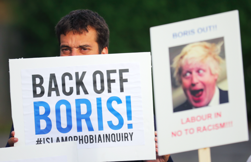 Mr Johnson was accused of Islamophobia over his burka comments (Getty)