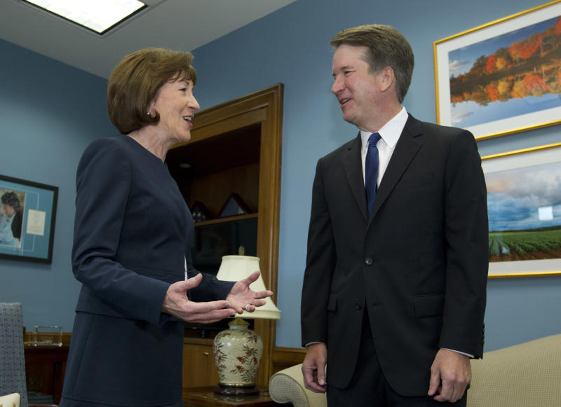 Kavanaugh Protesters Pepper Sen. Collins With 'Vulgar' Threats