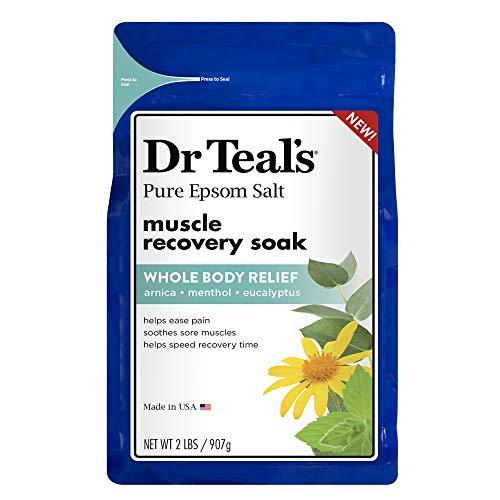 Dr. Teal's Epsom Salt - Muscle Recovery Soak - Whole Body Relief with Arnica, Menthol, Eucalyptus - 2lb bag (Amazon / Amazon)