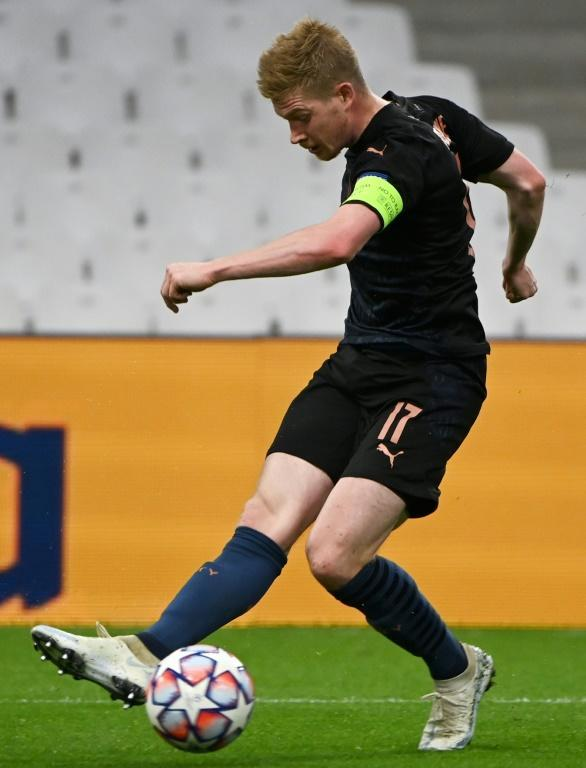 Kevin De Bruyne was Manchester City's man of the match in their 3-0 win in Marseille