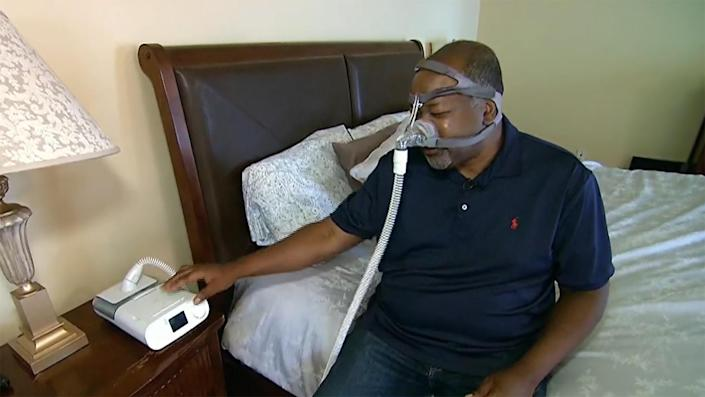 Philips has recalled the DreamStation CPAP machine that sleep apnea sufferer James Colbert uses. He says he can do without it. / Credit: CBS News