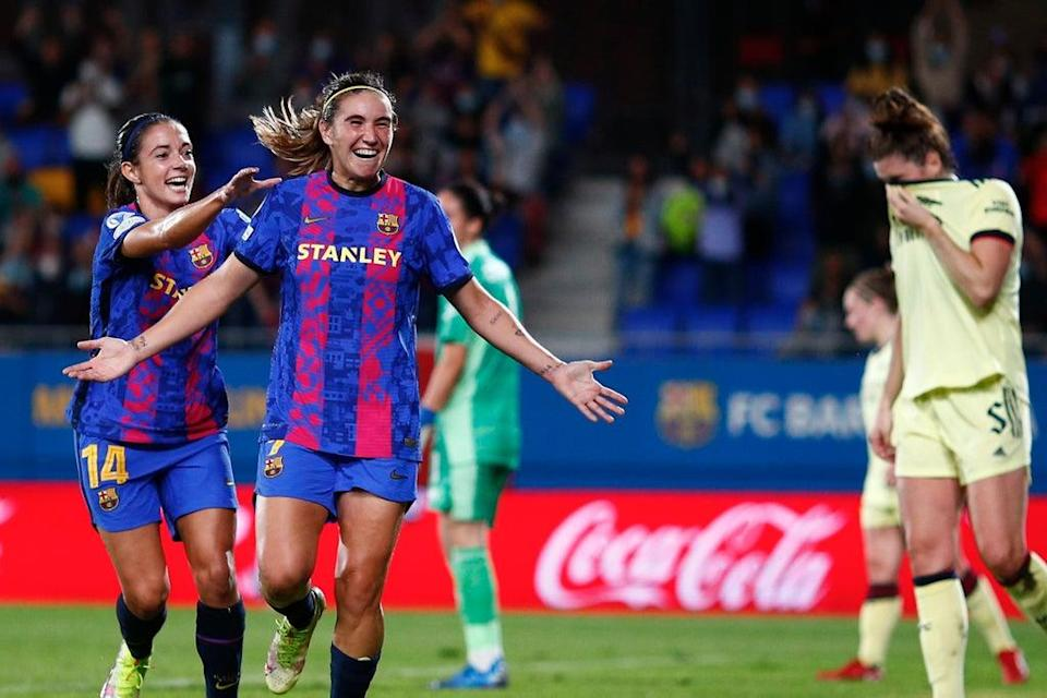 Arsenal were well beaten by defending champions Barcelona at the Johan Cruyff Stadium  (Getty Images)