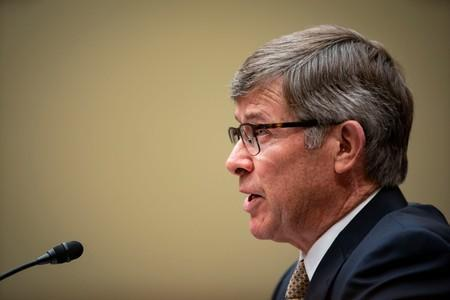 Joseph Maguire, acting director of national intelligence, testifies during a House Permanent Select Committee on Intelligence, on Capitol Hill in Washington