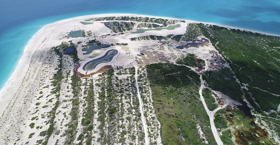 Palmetto Point, pictured in October 2020, where Barbuda Ocean Club is under construction  (GLAN)