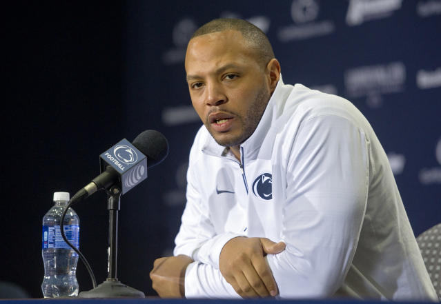 After four years at Penn State and another at Alabama, Josh Gattis was hired as the offensive coordinator at Michigan. (Getty Images)