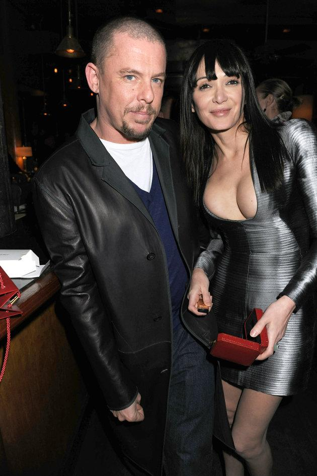 Alexander McQueen and Annabelle Neilson pictured in 2009