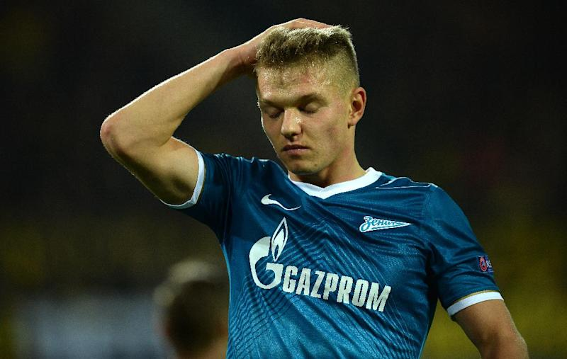 Zenit St Petersburg's Oleg Shatov, seen during an UEFA Champions League match in Dortmund, western Germany, on March 19, 2014 (AFP Photo/Patrik Stollarz)