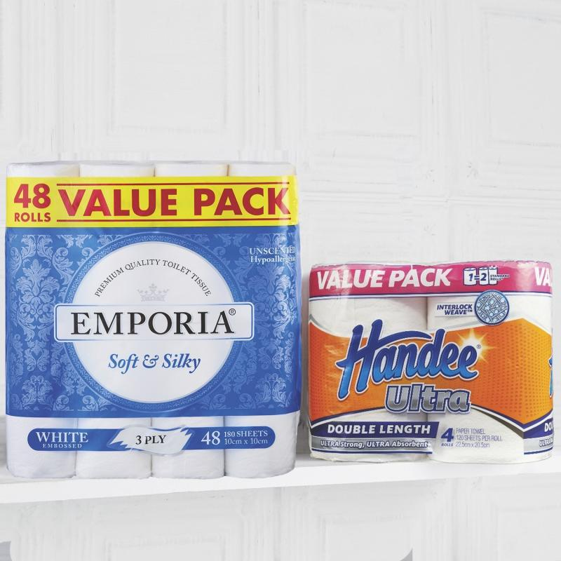 Image of Aldi 48 pack toilet paper and Handee Ultra paper towels cancelled for Wednesday's Special Buy