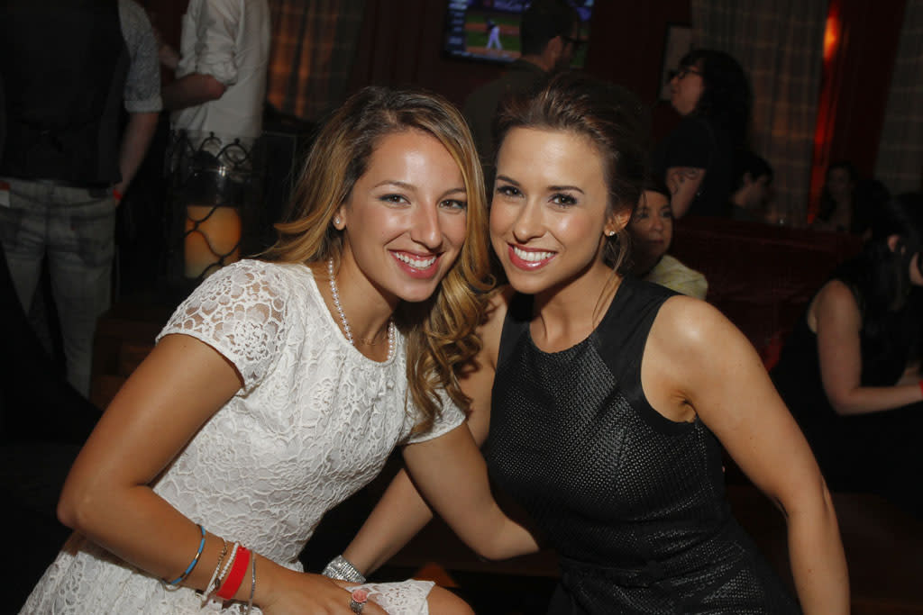 Vanessa Lengies and Lacey Chabert attend the Opening Night Party at ATX Television Festival on Thursday, June 6, 2013 in Austin, Texas.