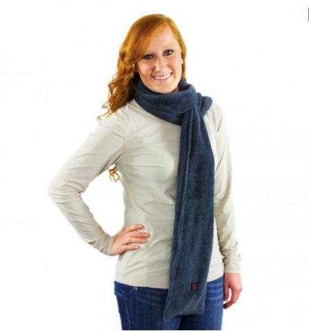 "Buy the <a href=""https://www.thewarmingstore.com/ventureheat-heated-scarf.html"" target=""_blank"">Venture Heat battery-heated scarf </a>for $99.95"
